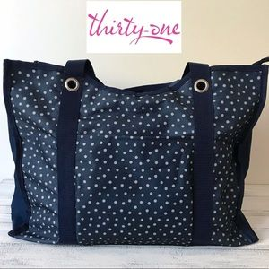 BACK TO SCHOOL Thirty One large zip up tote